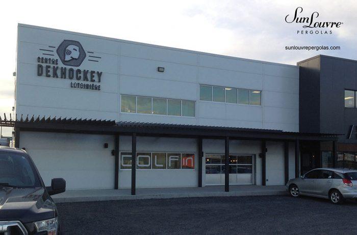 pergola dekhockey toit lames orientables