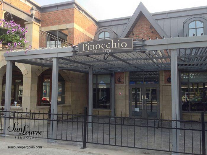 pergola restaurant pinocchio magog