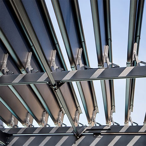 Pergola aluminium lames orientables sunlouvre pergolas - Pergola aluminium lames orientables ...