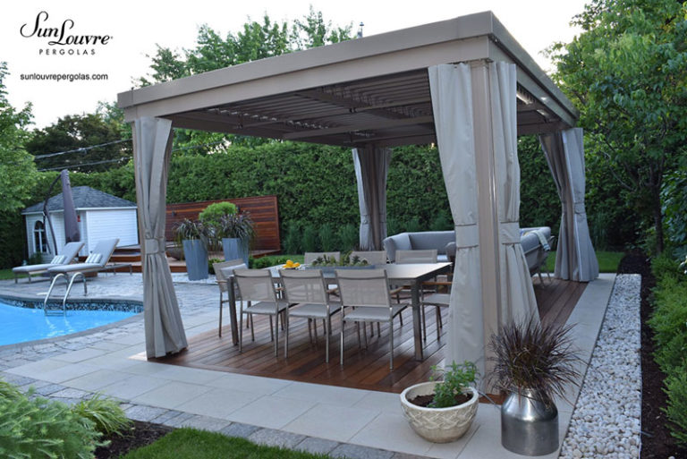 pergola-bioclimatic-sand color-curtains-0106