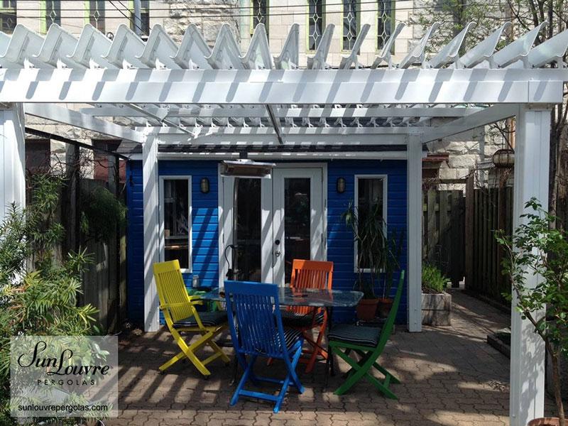 pergola aluminum backyard 0295 sunlouvre pergolas official site. Black Bedroom Furniture Sets. Home Design Ideas