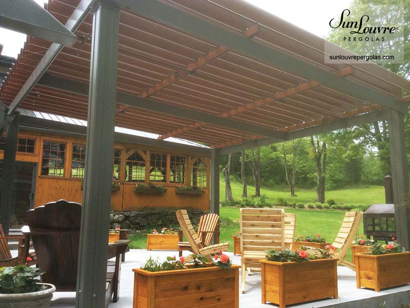 pergola brown 0120 sunlouvre pergolas official site. Black Bedroom Furniture Sets. Home Design Ideas
