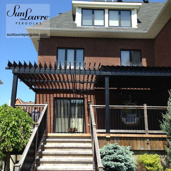 pergola deux sections balcon bois-0224