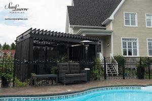 SunLouvre Pergolas résidentielle indépendante, 100% aluminium, lames orientables, bioclimatique - image 0113