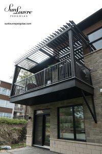SunLouvre Pergolas résidentielle attachée- balcon de condo-0244