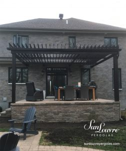 SunLouvre Pergolas, residential, attached to the home, adjustable louvered roof pergola, 100% aluminum - image 0247