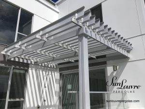 SunLouvre Pergolas, residential, attached to the wall, adjustable louvered roof pergola, 100% aluminum - image 0251