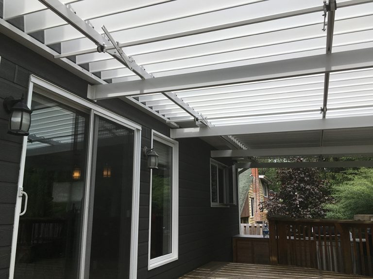 SunLouvre Pergolas, residential, attached to the wall, adjustable louvered roof pergola, 100% aluminum - image 0254