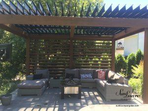 SunLouvre Pergolas, toit de lames orientables sur structure existante en bois, pergola 100 % aluminium, bioclimatique - image 0402