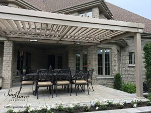 SunLouvre Pergolas, residential, integrated rafters model, attached to the home, adjustable louvered roof pergola, 100% aluminum - image 0512