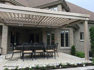 SunLouvre Pergolas résidentielle à lames orientables, bioclimatique, 100 % aluminium, modèle à lames intégrées - image 0512