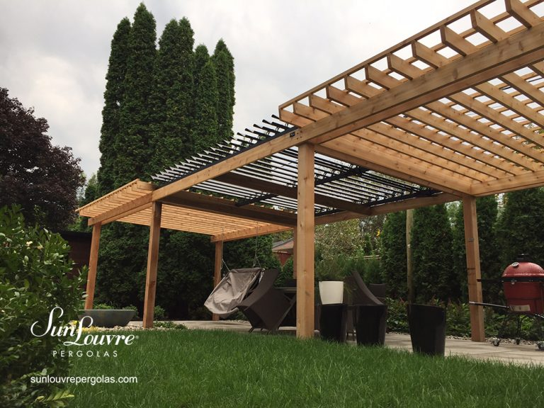 pergola, pergolas, garden roof perogla, aluminum pergola, louvered roof pergola, pergola on wood structure