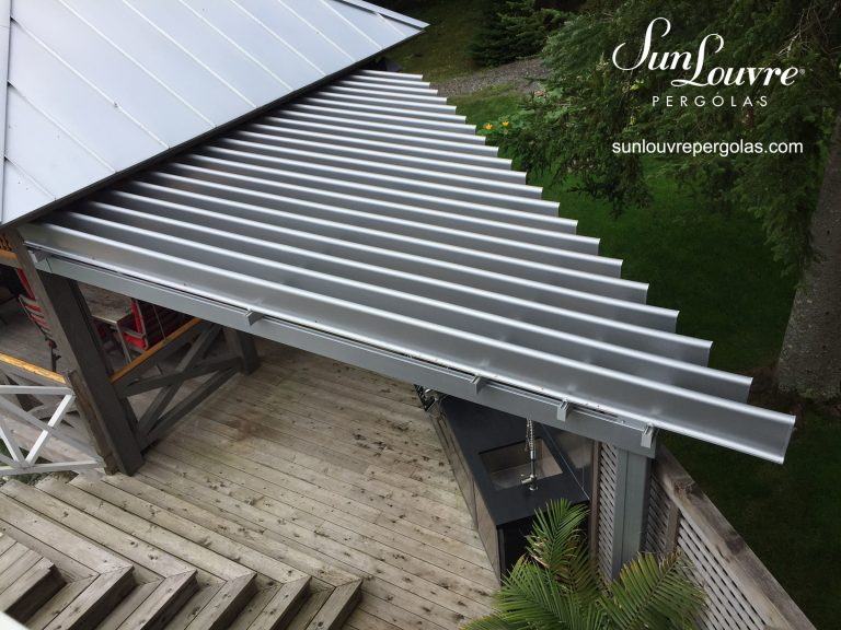 SunLouvre Pergolas with adjustable louvered roof, aluminum pergola, special project pergola with angle - image 0604