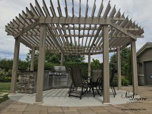 SunLouvre Pergolas à lames orientables, pergola en aluminium, pergola octogonale avec angles - image 0650