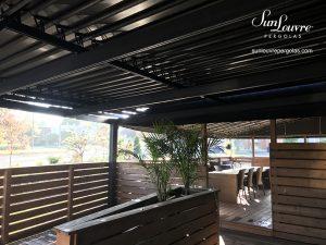 pergola, pergolas, restaurant roof pergola, aluminum pergola, louvered roof pergola