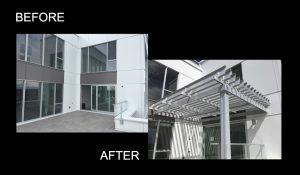 pergola, sunlouvre pergolas, aluminum pergola, condo pergola, adjustable louvered roof pergola