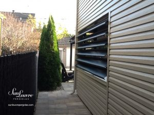 pergola, pergola en aluminium, pergola à lames orientables, mur à lamelles, mur en pergola