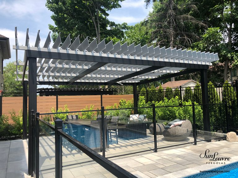 pergola, aluminum pergola, two colors pergola, awning