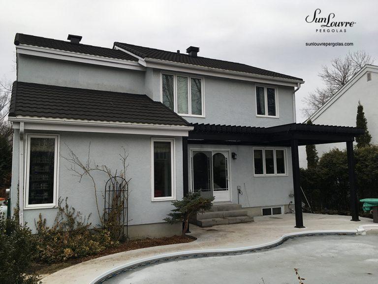 pergola, sunlouvre pergolas, aluminum pergola, adjustable louvered roof pergola