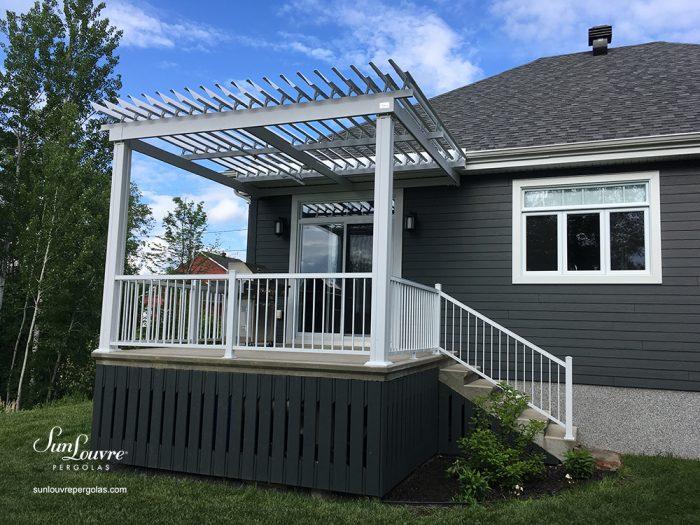 pergola, sunlouvre pergolas, pergola Quebec, louvered roof pergola, adjustable louvered roof pergola