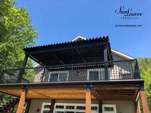 pergola, pergola en aluminium, pergola à lames orientables, pergola avec toit qui ouvre et ferme
