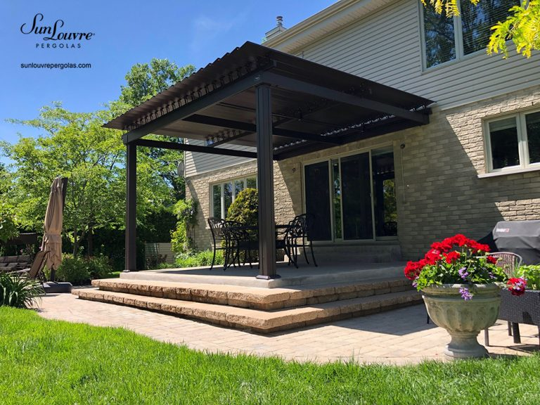 pergola, sunlouvre pergolas, aluminum pergola, louvered roof pergola, adjustable louvered roof pergola