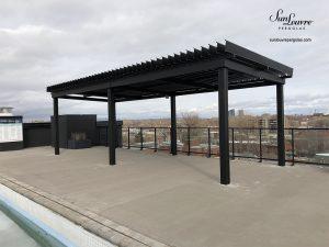 pergola, sunlouvre pergolas, aluminum pergola, louvered roof pergola, pergola on roof-top building