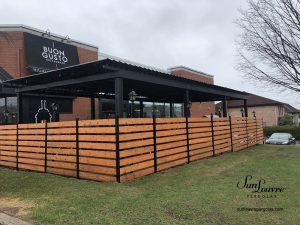 pergola, sunlouvre pergolas, aluminum pergola, restaurant pergola, adjustable louvered roof pergola