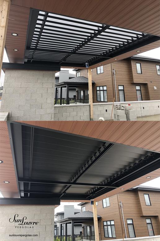 pergola, sunlouvre, aluminum pergola, adjustable roof pergola