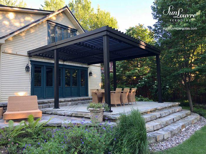 pergola, sunlouvre pergolas, aluminum pergola, louvered roof pergola, adjustable roof pergola