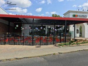 pergola, pergola au restaurant Pacini à Longueuil, pergola terrasse, pergola aluminium