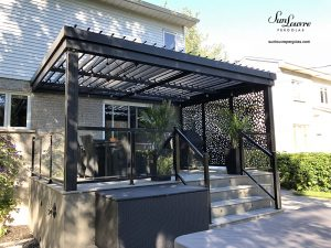 sunlouvre pergola with adjustable louvers, aluminum pergola, modern pergola