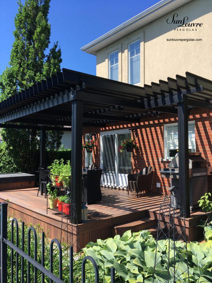 custom-made aluminum pergola, aluminum pergola, outdoor canopy, garden pergola