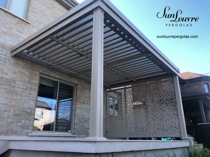 modern pergola, aluminum pergola, outdoor canopy, garden pergola, shelter, rainproof garden canopy