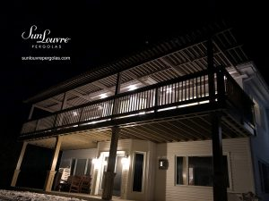 SunLouvre Pergola with adjustable louvers and four independent adjustable roof sections - image 2201