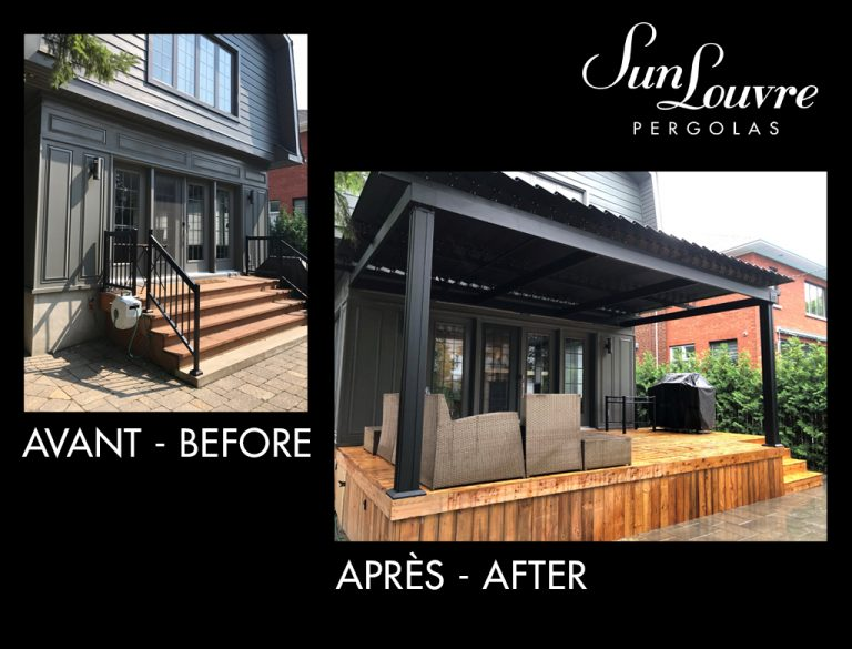Before-After SunLouvre Pergolas project - image avap109