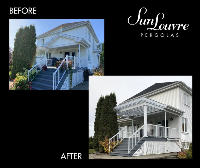 Before-After SunLouvre Pergolas project - image avap112en