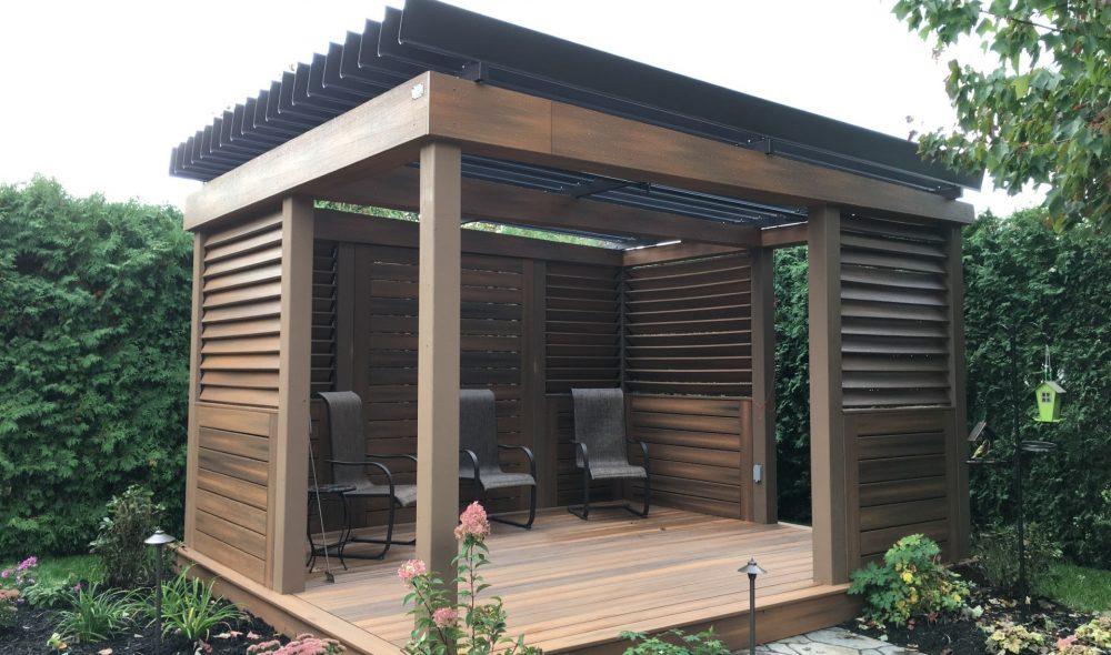 Pergolas sur structure de bois existante